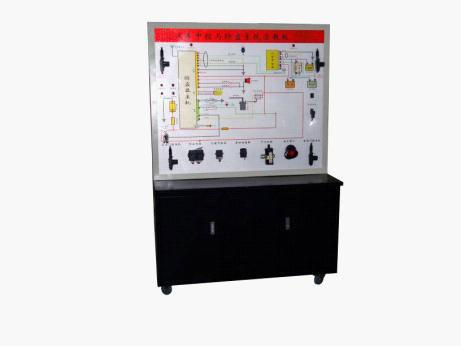 面板上绘有完整的中控与防盗系统的电路图,设置有检测端子,可通过仪器